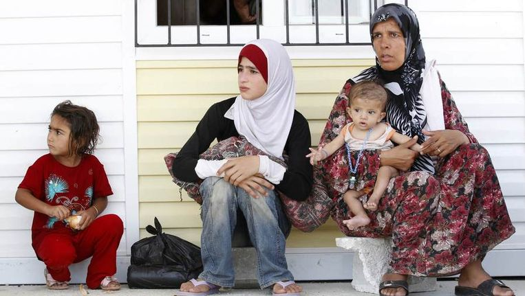 Syrische vluchtelingen. Beeld reuters