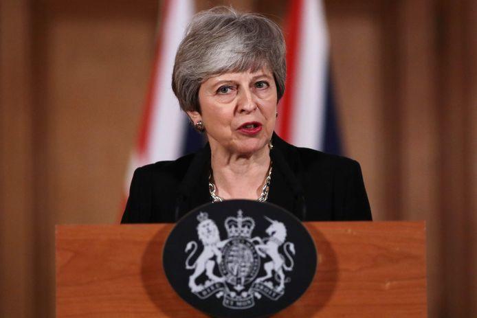 Premier May kondigde gisteren aan dat ze samen met Labour aan tafel wil gaan zitten om een uitweg uit de impasse te vinden.