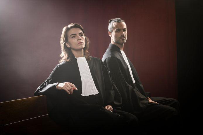 Louise Korthals en Jan Kooijman, de hoofdrolspelers uit Schuld of Onschuld.