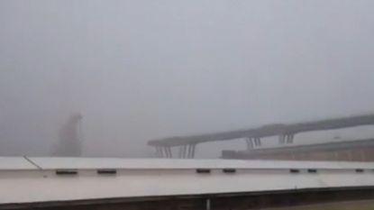 VIDEO. Het moment waarop het viaduct in Genua instort