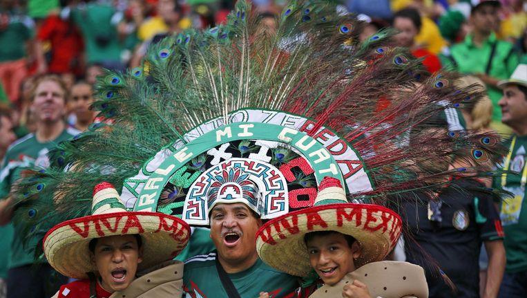 Mexicaanse fans in Recife Beeld ap