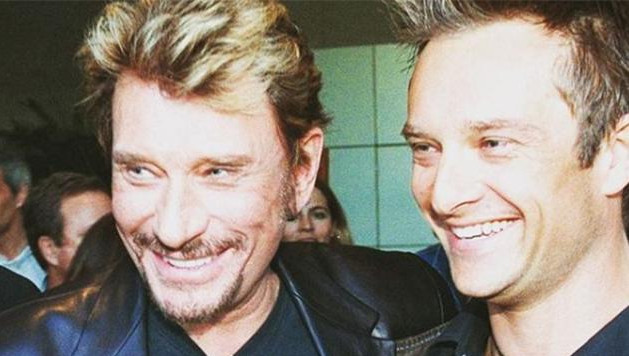 Johnny Hallyday et son fils David