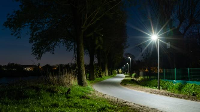 Jaagpad langs Leie heeft nu overal duurzame LED-verlichting