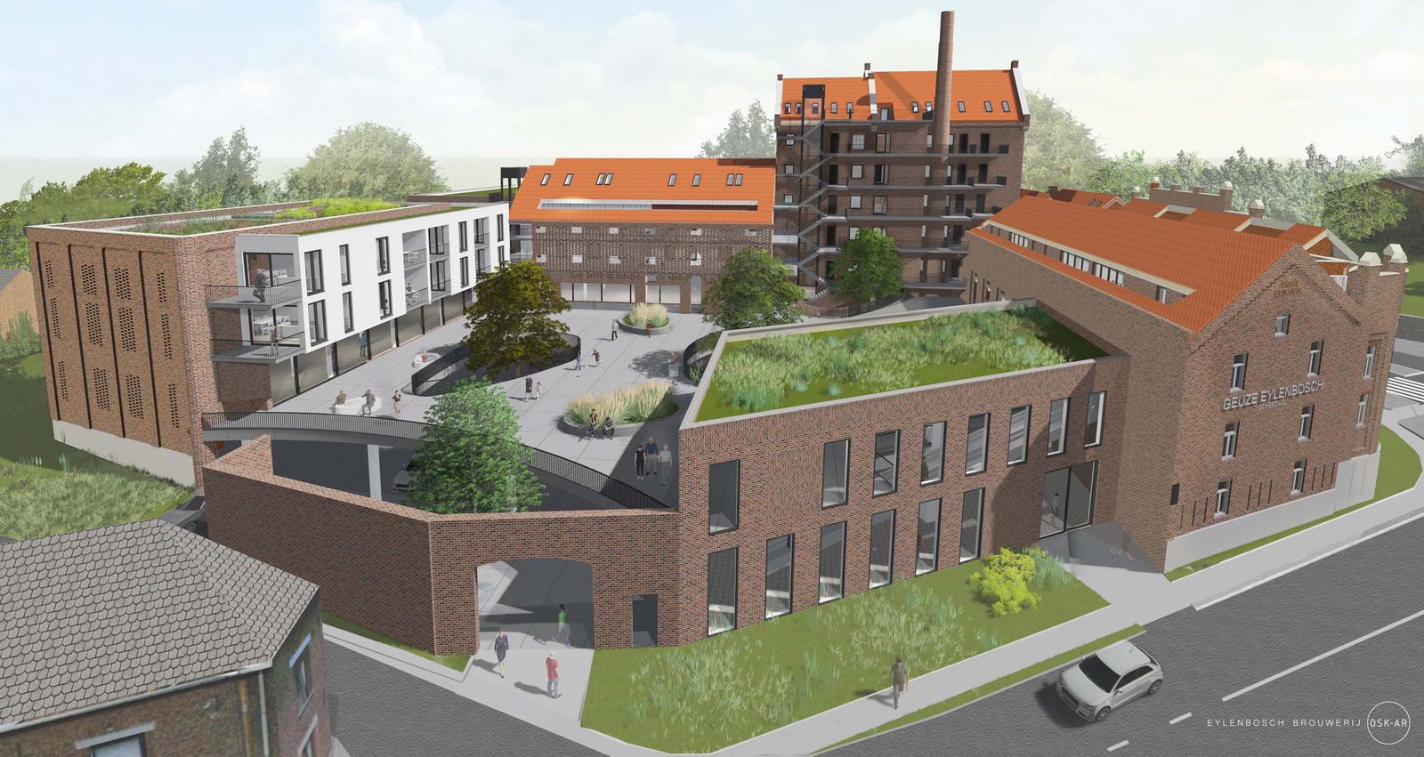 Enkele toekomstbeelden van Brouwerij Eylenbosch.