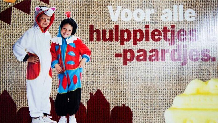 De supermarkt varieerde vorig jaar voor het eerst met de kleur van Piet Beeld Robin Utrecht