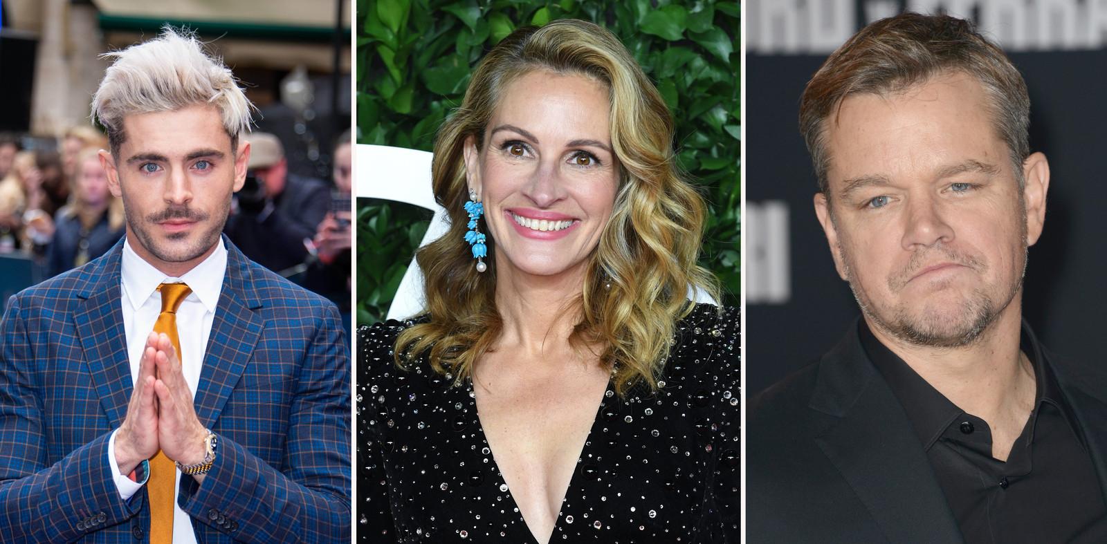 Zac Efron, Julia Roberts en Matt Damon vertoeven tijdens de pandemie graag in Australië.