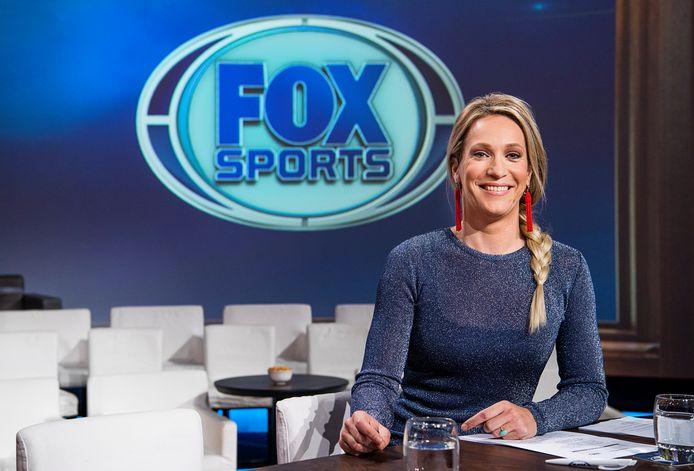 Presentatrice Helene Hendriks bij Fox Sports.