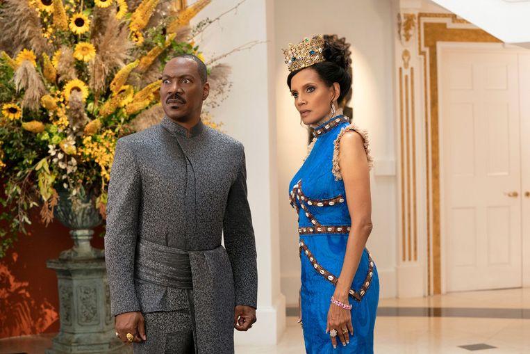 Eddie Murphy en Shari Headley in Coming 2 America. Beeld
