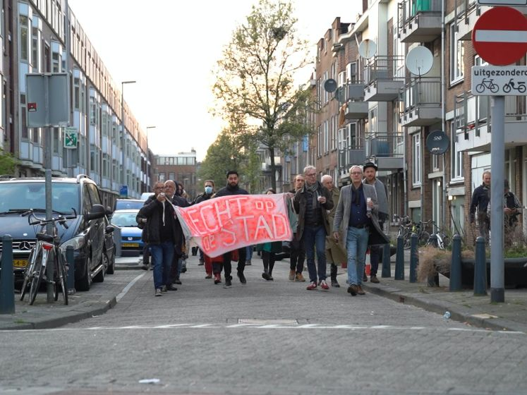 Protestmars in de Tweebosbuurt