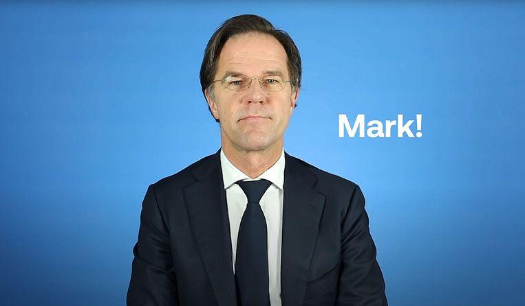 Mark Rutte in een campagnefilmpje van de VVD. Beeld VVD