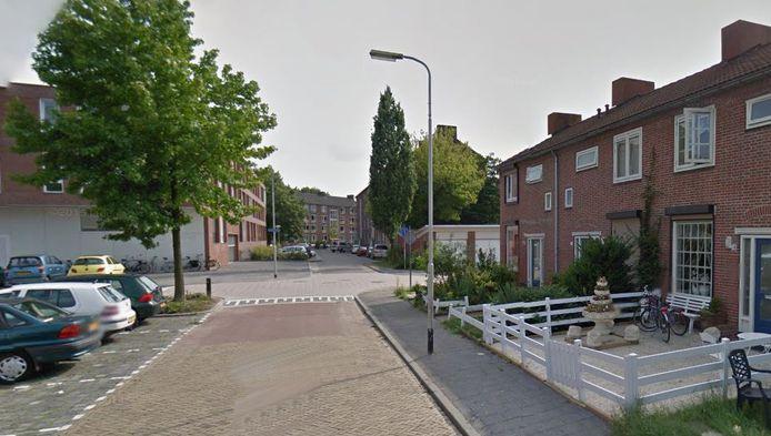 De kruising Arubastraat/Sabastraat in Breda