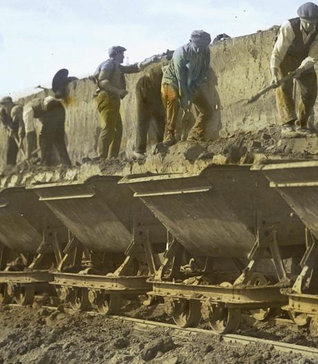 Bij de Maaskanalisatie knalde de hongerzweep
