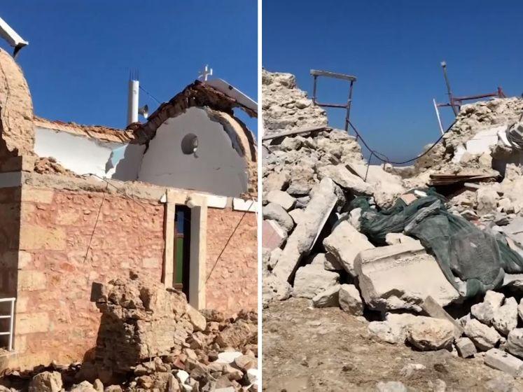 Krachtige aardbeving op Kreta: 1 dode en zeker 9 gewonden