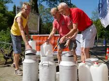 Extra water voor deelnemers Vechtdaltoer