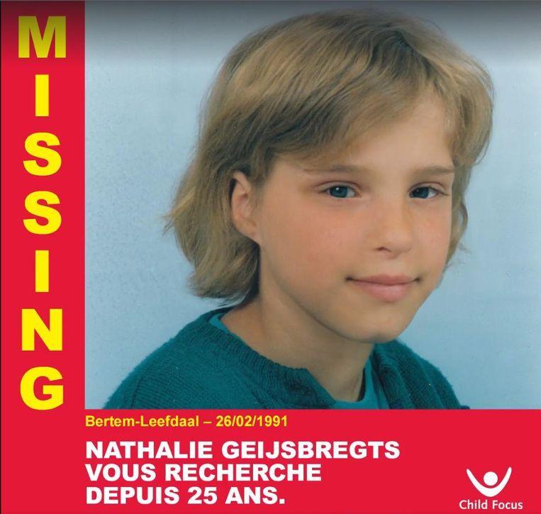 Nathalie Geijsbregts was 9 jaar toen ze op 26 februari 1991 verdween in Leefdaal (Vlaams-Brabant).