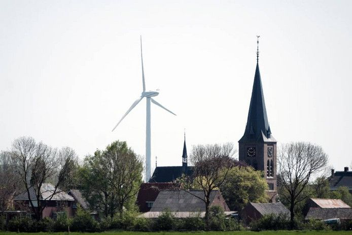 Netterden is een van de twee plekken in de Achterhoek waar al windmolens staan. De andere plek is het Aaltense Goor. Foto Jan van den Brink