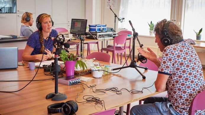 Litizia Rompelberg tijdens één van haar interviews.