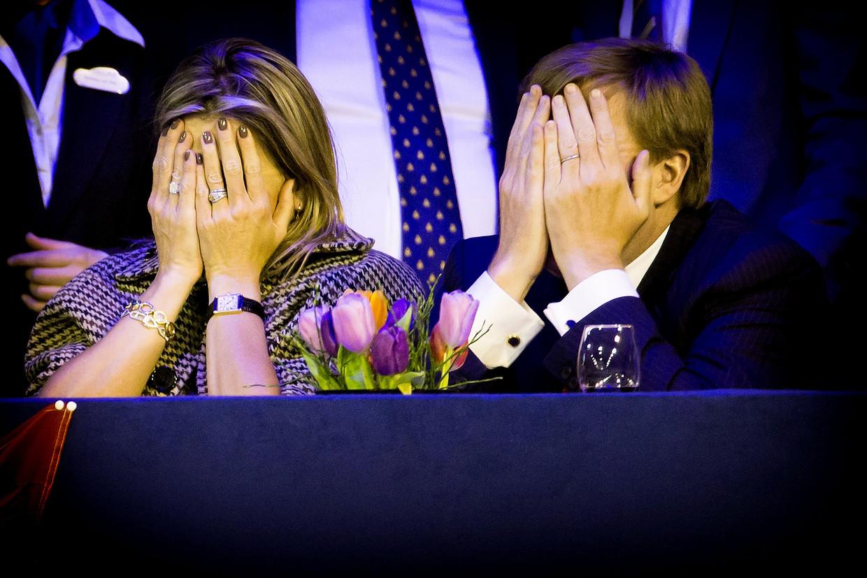 Het koninklijk paar in de ereloge bij Jumping Amsterdam