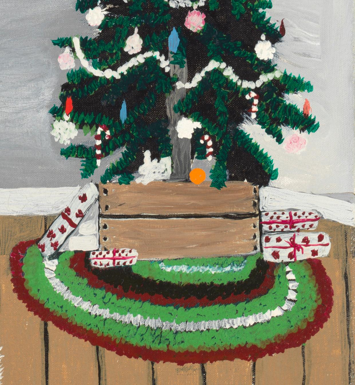 Detail uit 'Christmas Morning, Breakfast' van Horace Pippin. Beeld Cincinnati Art Museum