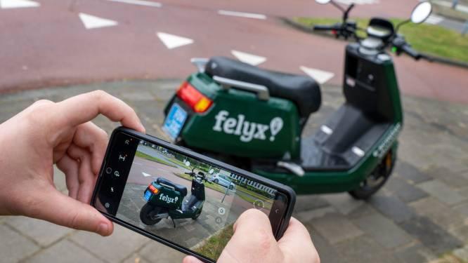 Felyx heeft ook een hekel aan foutgeparkeerde scooters, gebruikers moeten foto maken na ritje