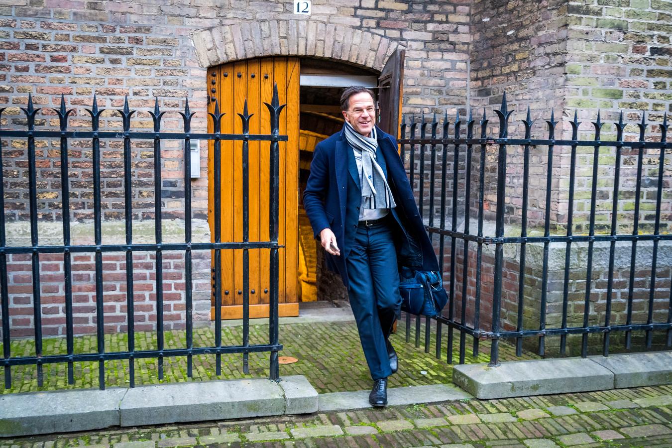 Premier Rutte op het Binnenhof.