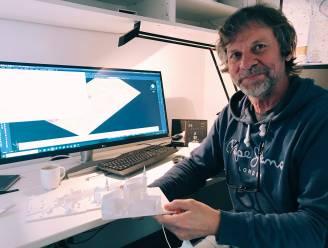 """Jan (65) maakt 3D-print van Middeleeuws Aalst: """"We zijn vergeten wat een prachtige stad het was in 1500"""""""