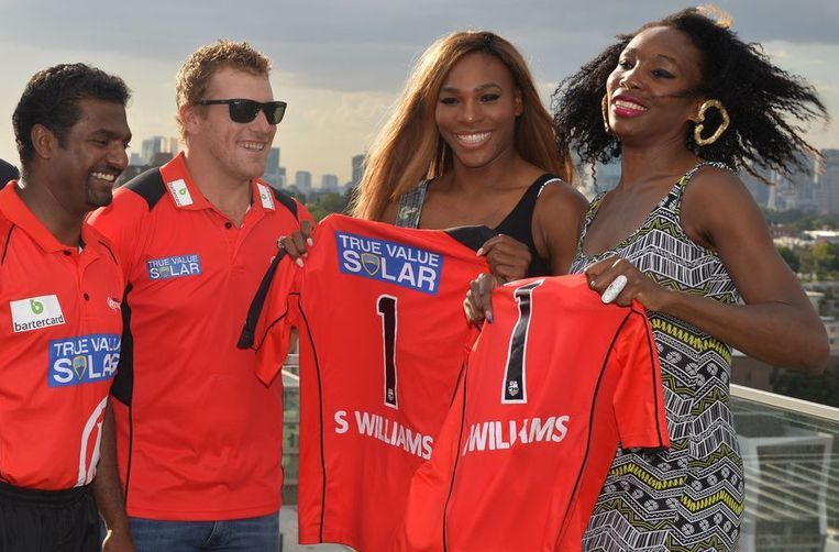 Serena en Venus ontbreken niet in Melbourne Beeld AFP