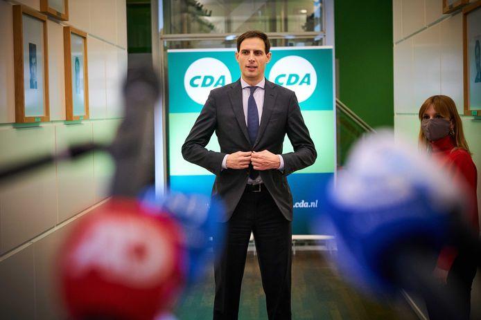 Wopke Hoekstra werd in december voorgedragen als nieuwe CDA-lijsttrekker, maar door technisch falen liet de bekrachtiging door de leden tijdens het online-congres op zich wachten.