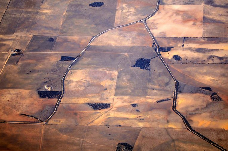 Landbouwgebied in Australië is getroffen door de droogte.
