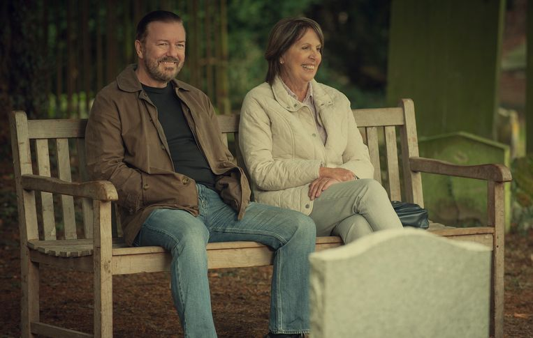 Ricky Gervais in 'After Life'. Beeld Netflix