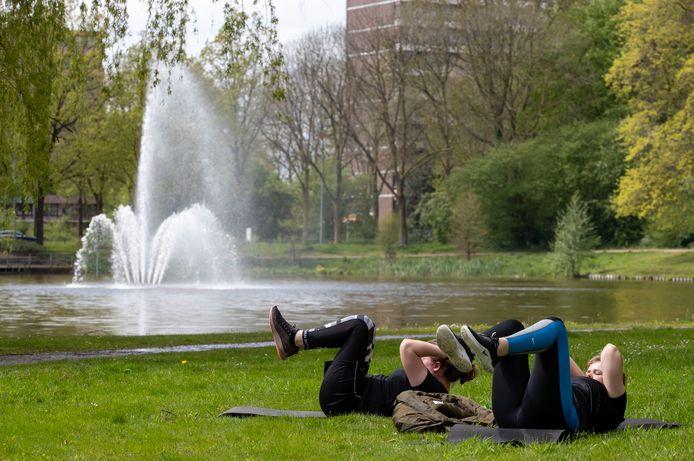 De fontein is inmiddels uitgeschakeld in de Proosdijvijver in Ede.