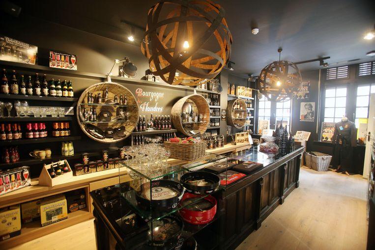 Uiteraard is er ook een shop waar je naar hartelust Bourgogne des Flandres kan inslaan.