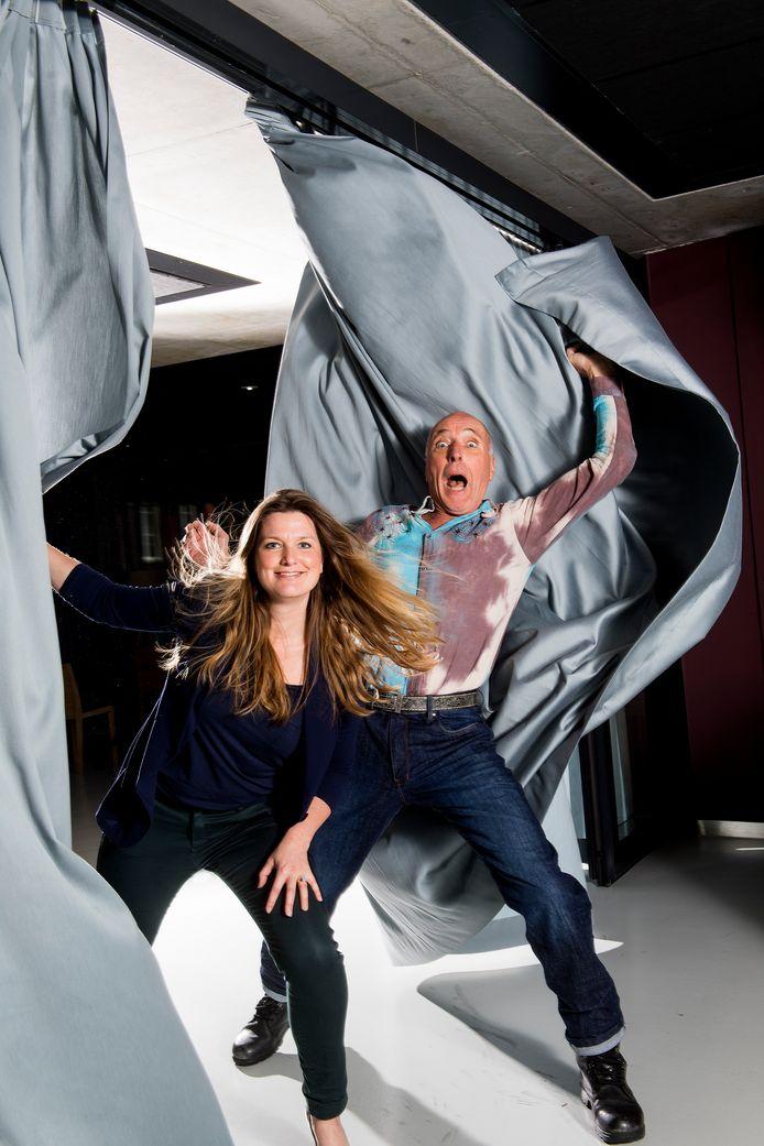 Rachel van der Schaaf en acteur Alfred van den Heuvel.