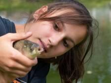Leerlingen van De Schakel in Harderwijk fanatiek na vangst van eerste vis