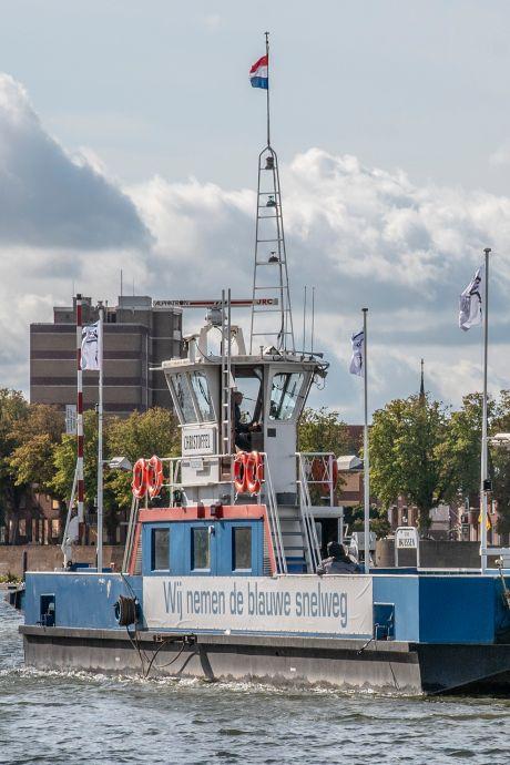 Deze speciale pont zou boeren de Maas over helpen, maar het werd geen succes