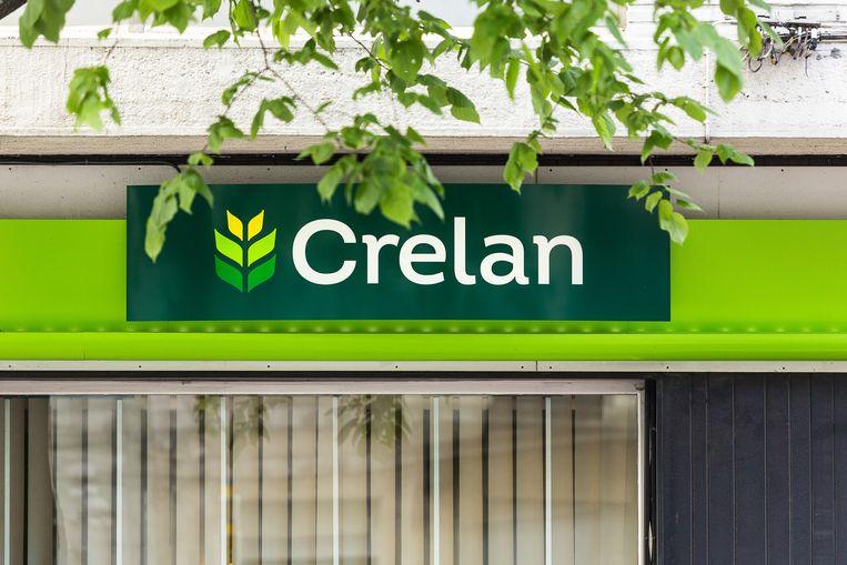 Het logo van Crelan. Beeld BELGA