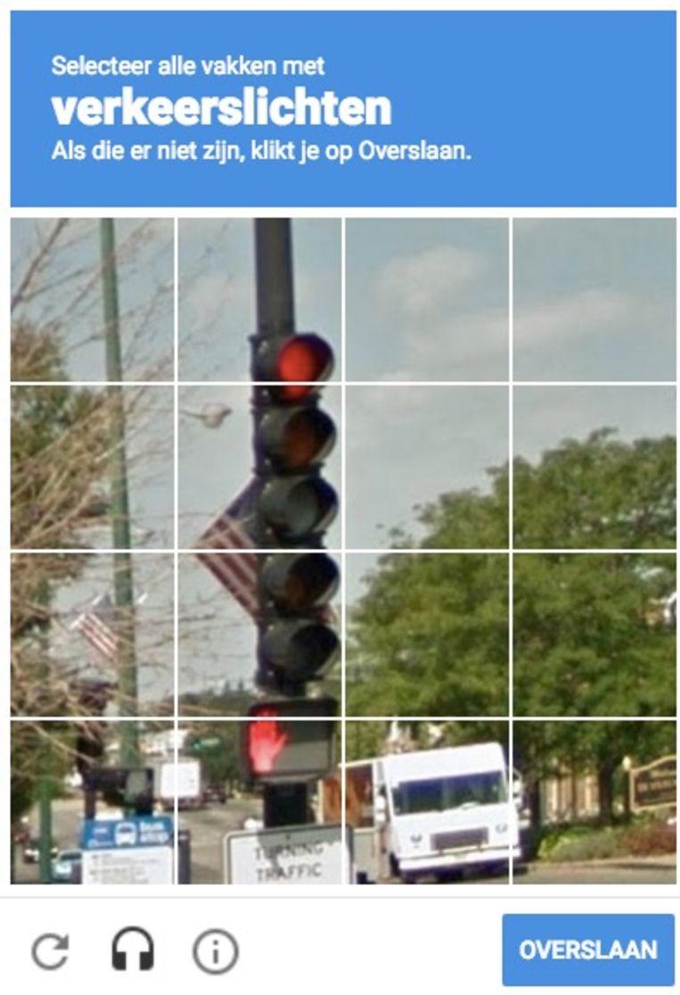 Selecteer alle vakken met verkeerslichten. Beeld RV
