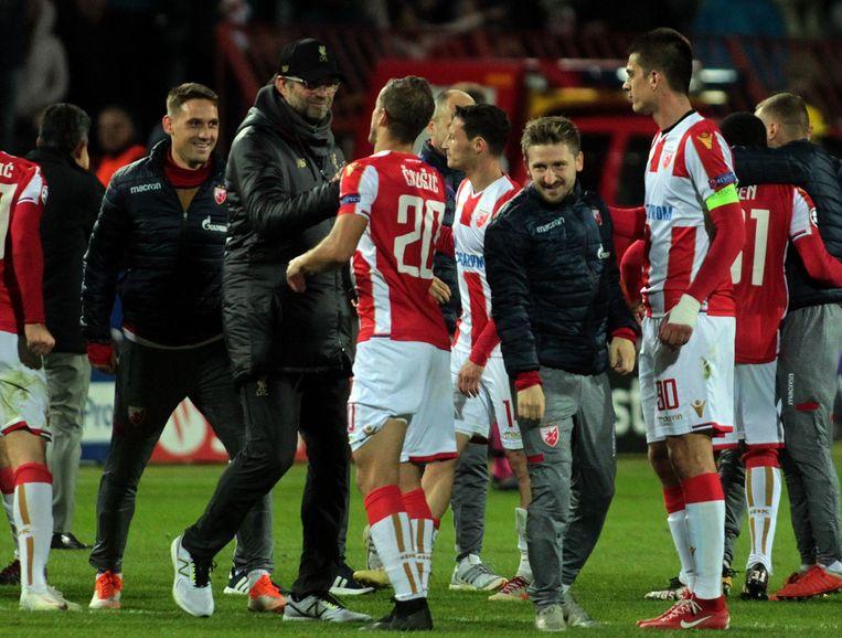De spelers van Rode Ster zijn apetrots.