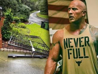 Dwayne 'The Rock' Johnson verliest geduld en rukt eigen poort uit de muur