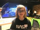 Mette Groeneboer is het enige meisje dat meedoet aan de Ruimtevaartschool.