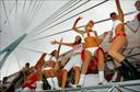 De Dance Parade, nog zo'n knaller uit het verleden. Het was steevast swingen geblazen op de burg, een vast onderdeel in het parcours van dit rijdend partijtje.