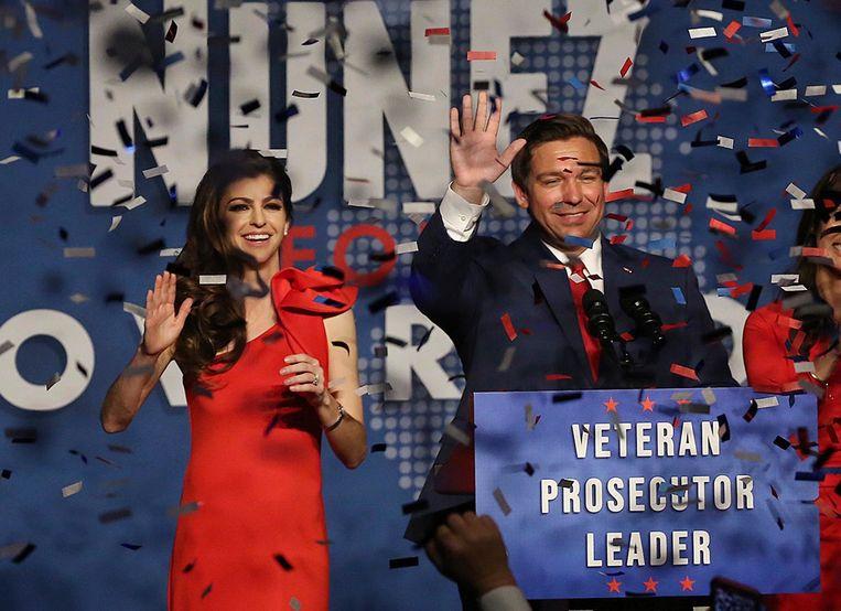 De Republikein Ron DeSantis haalde het als nieuwe gouverneur van Florida. Beeld AP