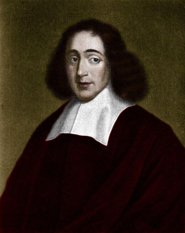 Portret van de 17de-eeuwse filosoof Spinoza. Beeld Getty Images