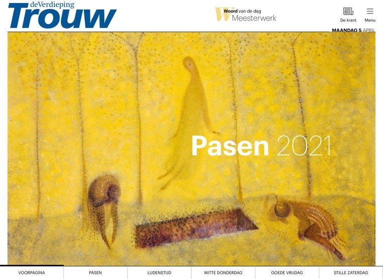cover paaseditie, 5 april 2021 Beeld trouw