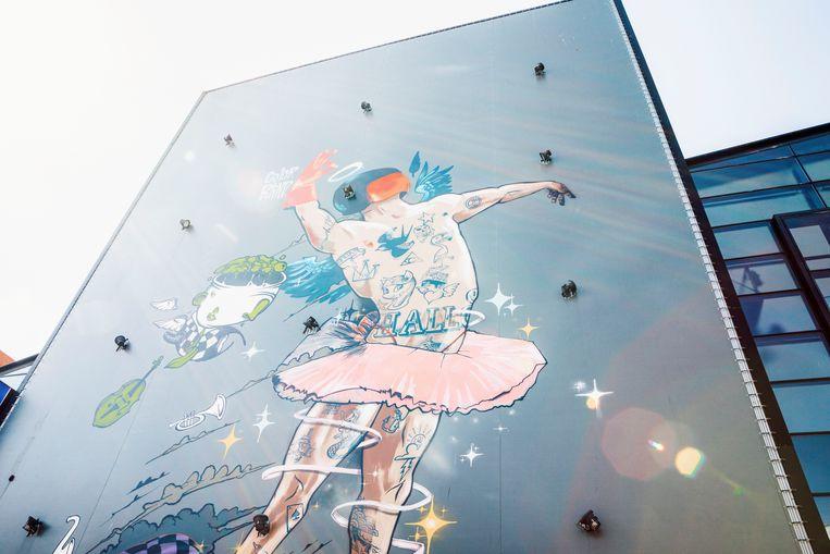 Friesland, graffiti Leeuwarden Beeld Hilde Harshagen