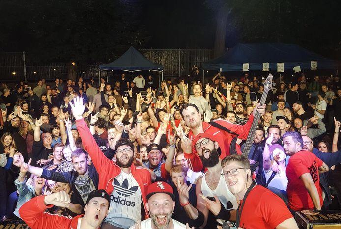 Een sfeerbeeld van de eerste editie van Skallyfest in Halle.