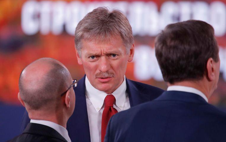 Dmitri Peskov, de woordvoerder van de Russische president Poetin.