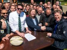 Rugbyclub The Pigs heeft na 45 jaar eindelijk een eigen clubhonk