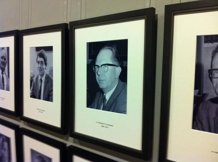 Het portret van Klaas Foeke Broekens in de burgemeestersgalerij in het stadhuis.