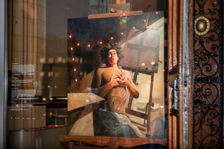 Wolf Hekkema's Hou vast, het winnende schilderij van Project Rembrandt 2020. Beeld Simon Lenskens